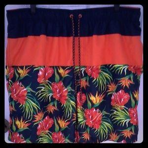 Faded glory board shorts XXL tropical print.